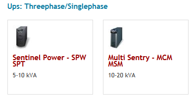 Ups: Threephase/Singlephase